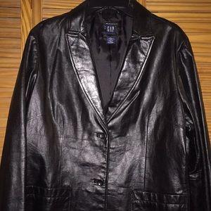 GAP Black Leather Jacket